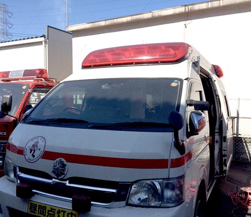 救急車車両内で空気環境対策ができる紫外線照射装置の開発