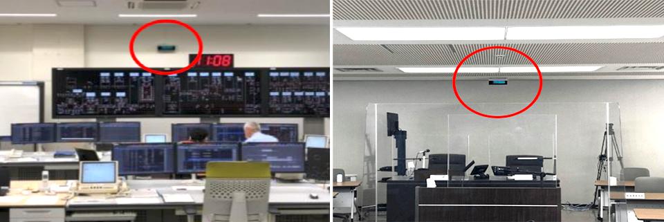 紫外線の上部照射方式だからできる、空間全体の空気環境対策。